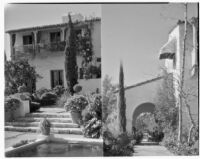 James R. Martin residence, two views towards house, Los Angeles, 1931