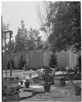Barton Hepburn residence, patio, Beverly Hills, 1935