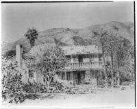Bettye K. Cree studio, drawing of the exterior, Palm Springs, 1930
