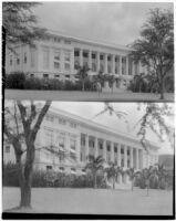 George Hall, University of Hawaii, Honolulu, 2 views, 1928 and 1930
