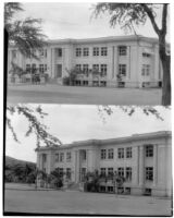 Gartley Hall, 2 views, University of Hawaii, Honolulu, 1928 and 1930