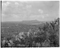 Diamond Head from Punch Bowl, Hawaii, 1928