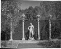 Wright Saltus Ludington residence, view of the Lansdowne Hermes, Montecito, 1931