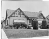 Allin L. Rhodes residence, view of front of house, 1935