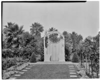 Henry H. Clock residence, rose garden with arbor, Long Beach, 1935