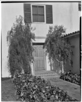 Henry H. Clock residence, main entrance to the house, Long Beach, 1935 or 1939