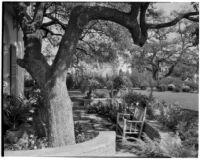 Edward Charles Harwood residence, patio, San Marino, 1928 or 1932
