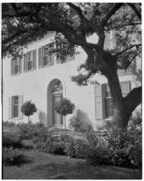 Edward Charles Harwood residence, facade, San Marino, 1928