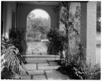 Edward Charles Harwood residence, cloister, San Marino, 1928