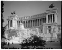 Victor Emmanuel Monument, view from Piazza Venezia, Rome, Italy, 1929