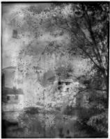 Reflection of a château in a body of water, [France ?], 1929