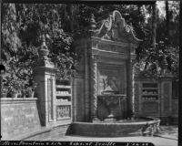 Fountain at the Ibero-American Exposition of 1929, view of the fountain, Seville, 1929