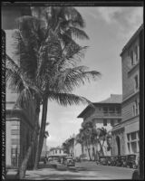 Alexander & Baldwin Building and Oregon Building, view from Bishop Street, Honolulu, 1930