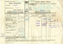 Checks, checkbook, Indonesian visa [?]