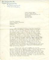 1 letter, UCLA event program, various documents