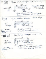 Letters to Mantle Hood, notes and drawings on instruments, material regarding UCLA graduate students