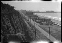 Santa Monica shoreline with Santa Monica Pier in background, Santa Monica, 1929