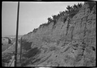 Palisades Park cliffs above Santa Monica shoreline, Santa Monica, 1929