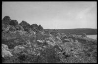 Tufa and rocks near Mono Lake, Mono County, [1929?]