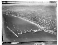 Aerial view of Santa Monica and Santa Monica Pier, 1933