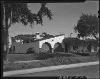 George and Gertrude Temple residence, facade, Santa Monica, 1934