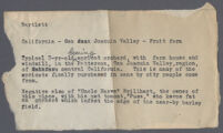Typewritten description of Harve Brillhart's apricot orchard in the San Joaquin Valley, 1927