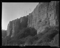 Palisades Park cliff and agaves, Santa Monica, 1929