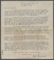 Letter from Neeta Marquis to Adelbert Bartlett, planning for story and photographs about Plummer Park, 1928