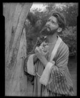 Actor Arthur Heinemann of the Sunday Players posing as the apostle Judas, circa 1935