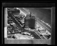 Birdseye view towards the Villa Riviera, Long Beach, 1929