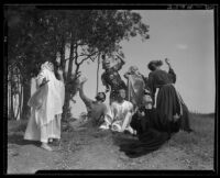 Actors from the Sunday Players radio show performing a scene from the New Testament, circa 1935