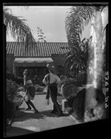 Women dancing, Harry Gorham residence, Santa Monica, 1928