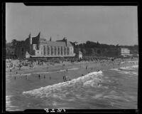 Deauville Club and Santa Monica beach, Santa Monica, 1928 or 1934