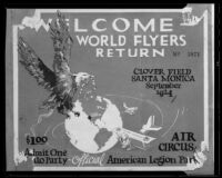 Ticket to party celebrating World Flyers Return, Santa Monica, 1924