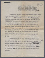 Typewritten account of the celebration of the creation 1,250,000th cone at Jacks Famous Ice Cream Cones (p. 1), Venice, 1928