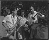 Young people playing music, Pacific Palisades, 1928