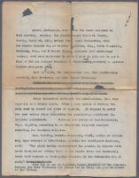 Typewritten document describing photograph of American women on trial in Bursa, Turkey, 1928