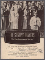 Advertisement for the Sunday Players radio program, circa 1935