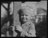 Child and post, Los Angeles, circa 1935