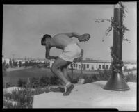 High school discus thrower, Beverly Hills High School, Beverly Hills, 1931