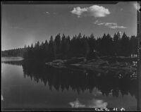 View towards lake and shoreline, Lake Arrowhead, 1929
