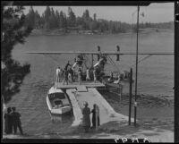 "Sikorsky S38-A ""The Flying Fish"" amphibian plane, Lake Arrowhead, 1929"