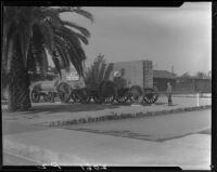 20 Mule Team borax wagons, Pasadena, [1920-1939?]