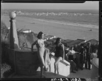 Young people on Palisades Park stairs, Santa Monica, [1928?]