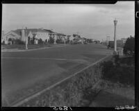 Street lined by apartment buildings, Long Beach, 1929