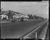 Street with houses, Long Beach, 1929