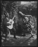 Eugene R. Plummer, with guitar, and Lola Montesa, dancing, West Hollywood, 1931