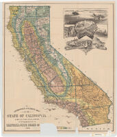 A geographical & climatic map of the State of California