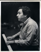 Yefim Bronfman playing the piano, 1986 [descriptive]