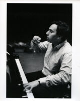 Yefim Bronfman playing the piano, 1986 [descriptive]